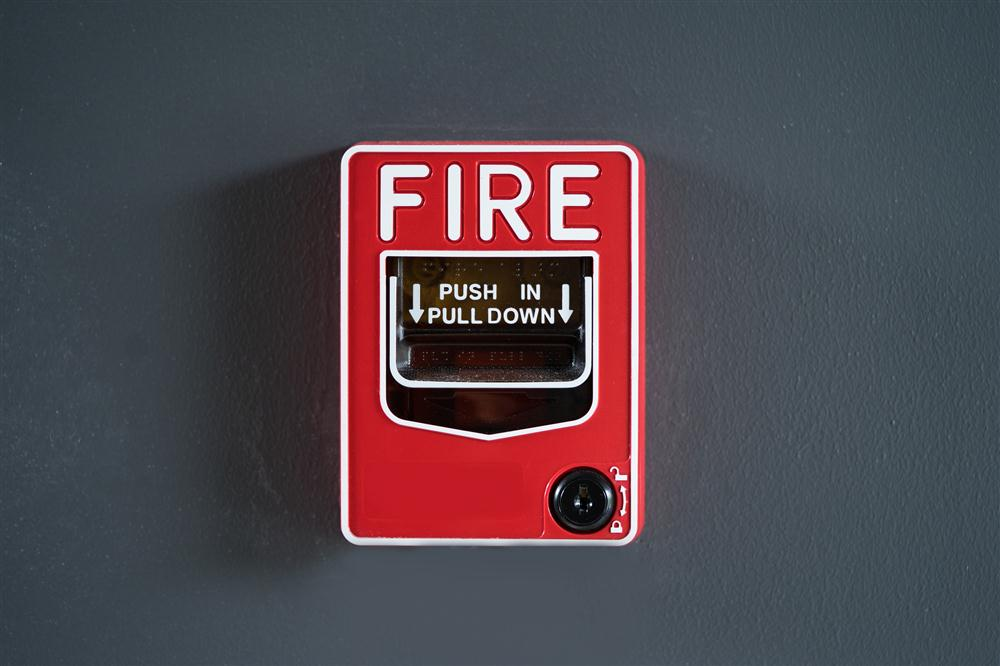 Fire alarm installed in commercial building